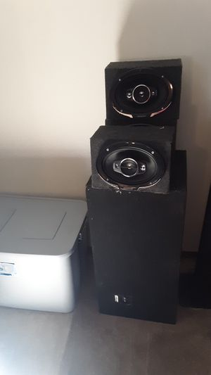 Subwoofer boxes for sale for Sale in Evansville, IN