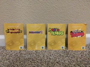 Four Nintendo N64 Game Instruction Booklets for Sale in Modesto, CA