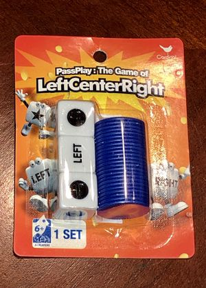 New LCR Left Center Right Dice Game for Sale in San Jacinto, CA