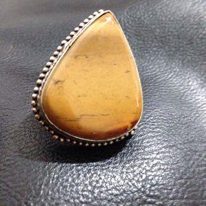 Tiger Eye Stone Teardrop Silver Ring for Sale in Orange, CA