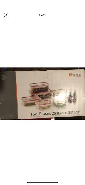 16 Piece Plastic Food Storage Containers Set with Air Tight Locking Lids for Sale in Brooklyn, NY