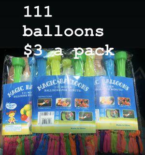 Balloons $3 each pack of 111 balloons for Sale in Bellflower, CA