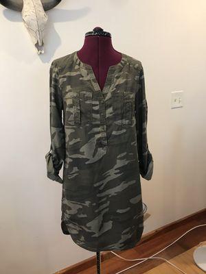 Express Camo Shirt Dress for Sale in Walpole, MA