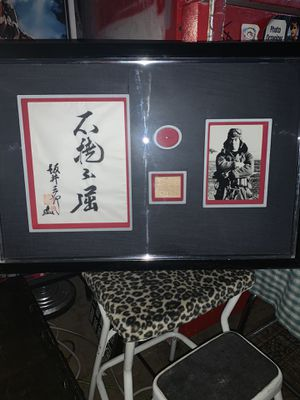 """Rare Antique Collectible Japanese Kamikaze Pilot """"The King's Gallery""""- 2 Gold Pins and Memorabilia Framed Under Glass for Sale in Phoenix, AZ"""