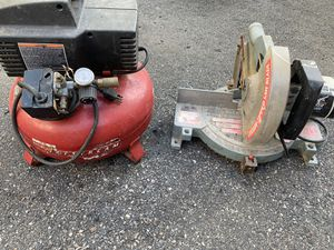 Air compressor and saw for Sale in Everett, MA