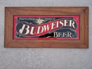 Large Vintage Budweiser Beer Glass Sign Bud Bar Brewery Man Cave Decor for Sale in Chula Vista, CA