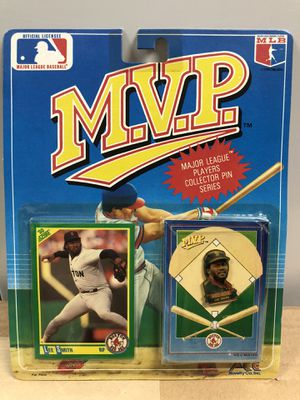 1990 Boston Red Sox Lee Smith MVP Major League Players Collector Pin with Baseball Card *UNOPENED* for Sale in Hayward, CA