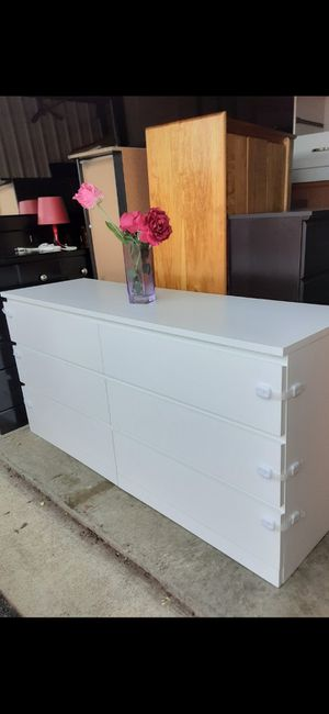 IKEA WHITE DRESSER DRAWERS SLIDING SMOOTHLY EXCELLENT CONDITION ( LIKE NEW ) for Sale in Fairfax, VA