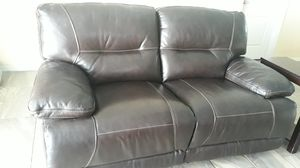 Leather sofa recliner for Sale in Lake Wales, FL