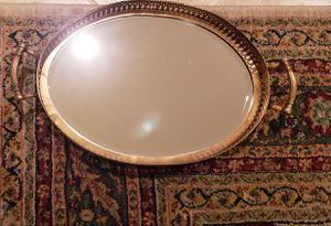 Ethan Allen Oval Brass Mirrored Tray for Sale in Jupiter, FL