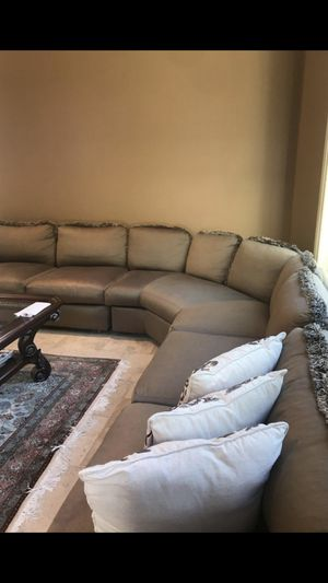 Sectional Sofa - Down filled cushions -3 pieces 67, 62, 67 inches from Gormans for Sale in Rochester Hills, MI