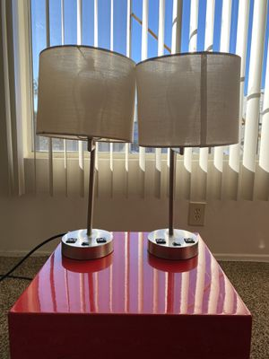 Table lamps with outlet for Sale in Los Angeles, CA
