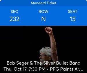 3 Bob Seger tickets for Sale in Reinholds, PA