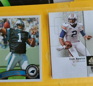 Lot of two NEW ENGLAND PATRIOTS CAM NEWTON rookies Both for $25 for Sale in Clovis, CA