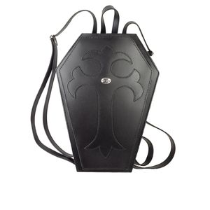 Black Leather Coffin Backpack Purse NEW DISCOUNTED PRICE! for Sale in Des Plaines, IL