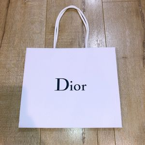 DIOR Empty Pebbled White Paper Shopping Gift Bag for Sale in Los Angeles, CA