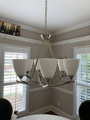 Brushed Nickel 6 light Chandler for Sale in Charlotte, NC