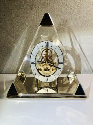 Vintage Seiko Pyramid Quartz Triangle Mantle Table Clock ,Seiko. Antique ornate golden pyramid clock for Sale in Pasadena, CA