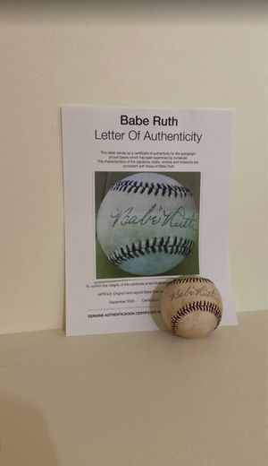 Baseball Signed By Babe Ruth With COA Certified! for Sale in Seattle, WA