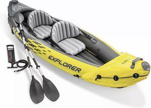 Intex Explorer K2 Kayak 2-Person Inflatable Kayak Set with Aluminum Oars for Sale in Centreville, VA
