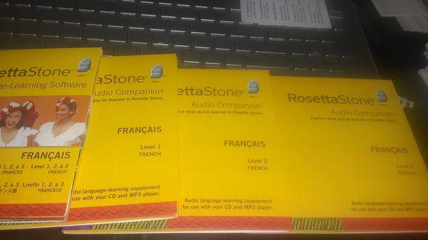Rosetta Stone-French levels 1-3. Like new.