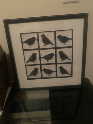 Birds frame wall decor for home new condition for Sale in Westfield, NJ