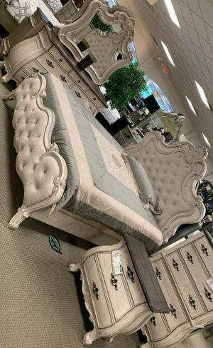 💲39 Down Payment 🍃 Ashford Weathered White Panel Bedroom Set 231 for Sale in Jessup, MD