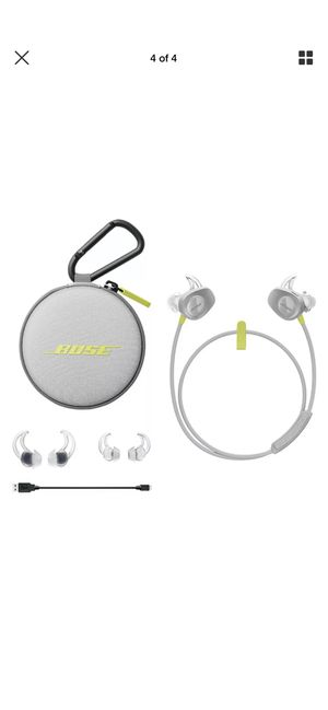 Bose new Soundsport Yellow Bluetooth wireless earbuds for Sale in Fort Lauderdale, FL