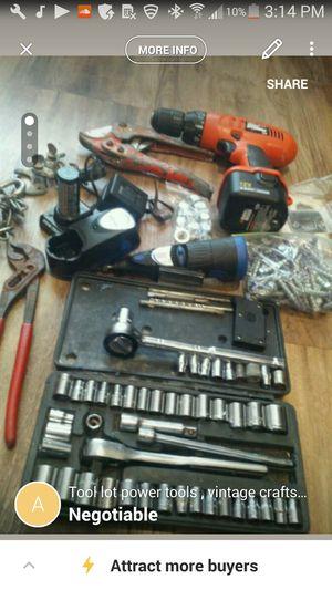 Tool lot, power tools & vintage craftsman ratchet socket set for Sale in Orlando, FL