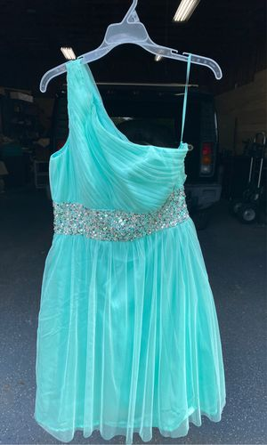 NWOT never worn Tiffany Blue with jewels dress for Sale in Fort Myers, FL