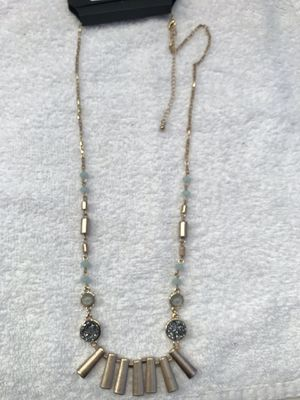 APT 9 Gold Toned Necklace With Multicolored Crystals And Beads for Sale in Martinsburg, WV