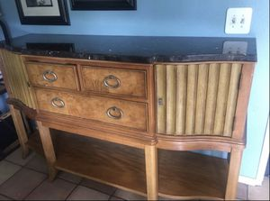 """Kitchen buffet table with granite top ( W72""""xW42x H21"""") for Sale in San Jose, CA"""