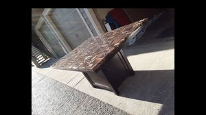 Marble granite style kitchen dining room table w/ storage for Sale in Portland, OR
