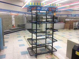 Metal Rack with Shelves nice shape for Sale in Dexter, ME