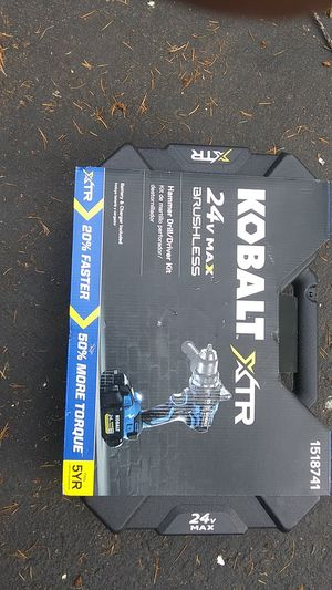 Kobalt ate 24v hammer drill driver kit for Sale in Seattle, WA