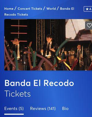 Tickets para la banda Recodo for Sale in Cicero, IL