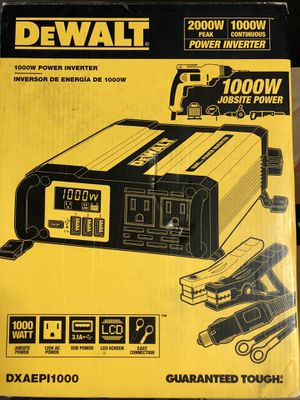 DeWalt 1000 - watt power inverter for Sale in Garden Grove, CA