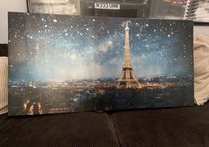 Eiffel Tower Canvas Frame 47 wide x 24 tall for Sale in Pembroke Pines, FL