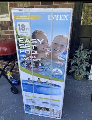 Intex 18Ft x 48In Inflatable Round Outdoor Above Ground Swimming Pool for Sale in Rockville, MD