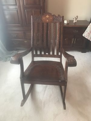 Antique rosewood rocking chair for Sale in Alexandria, VA