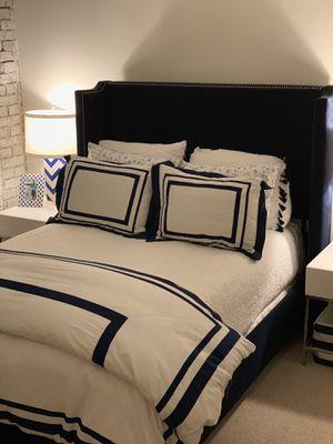 WEST ELM Full-Sized Roger Upholstered Bed for Sale in Washington, DC