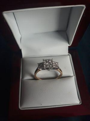 24K Gold Ring With Diamonds for Sale in GRANT VLKRIA, FL