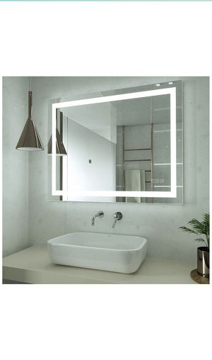 HAUSCHEN 32x40 inch LED Lighted Bathroom Wall Mounted Mirror with High Lumen+CRI 95 Adjustable Color Temperature+Anti-Fog Separately Control+Dimmer F for Sale in Beverly Hills, CA