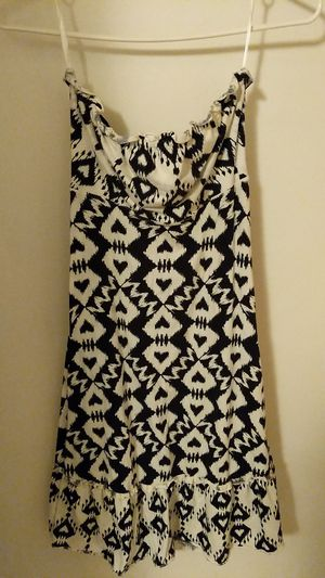Lux summer strapless black and white dress for Sale in Denver, CO
