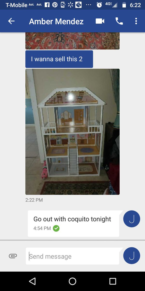 REDUCED!!! 4 1/2FT DOLL HOUSE