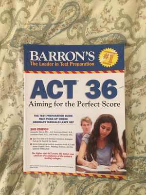 ACT college application exam prep book for Sale in Apex, NC