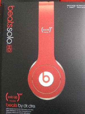 Beats by dr. Dre solo Hd (red) special edition headphones for Sale in Mesa, AZ