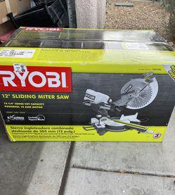 Ryobi 12 Inch Sliding Miter-Brand New In Box for Sale in Sloan,  NV