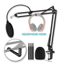 Sigsit Adjustable Microphone Stand W Headphone Hook for Sale in San Angelo,  TX