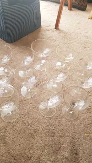 12 champagne glasses for Sale in Salinas, CA